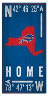 "Buffalo Bills 6"" x 12"" Coordinates Sign"