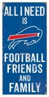 "Buffalo Bills 6"" x 12"" Friends & Family Sign"