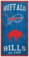 "Buffalo Bills 6"" x 12"" Heritage Sign"