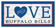 """Buffalo Bills 6"""" x 12"""" Love Sign"""