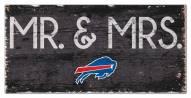 "Buffalo Bills 6"" x 12"" Mr. & Mrs. Sign"