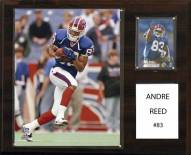 "Buffalo Bills Andre Reed 12"" x 15"" Player Plaque"