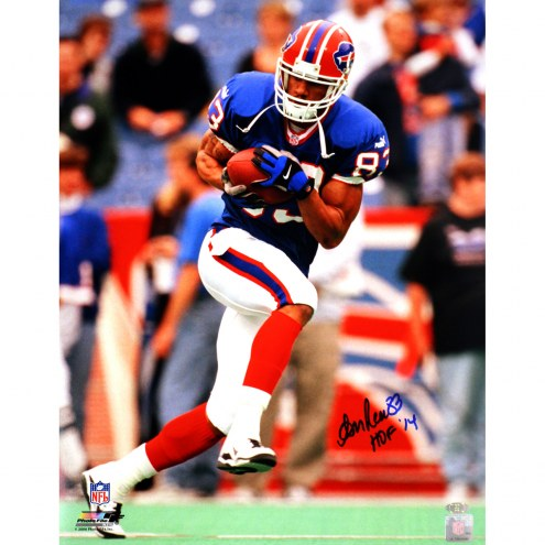 """Buffalo Bills Andre Reed Running with Ball w/""""HOF 14"""" Signed 16"""" x 20"""" Photo"""