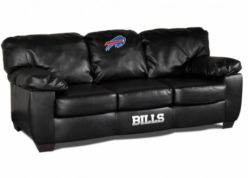Buffalo Bills Black Leather Classic Sofa