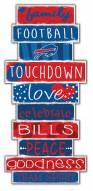 Buffalo Bills Celebrations Stack Sign
