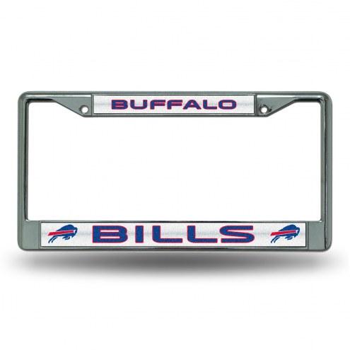 Buffalo Bills Chrome Glitter License Plate Frame