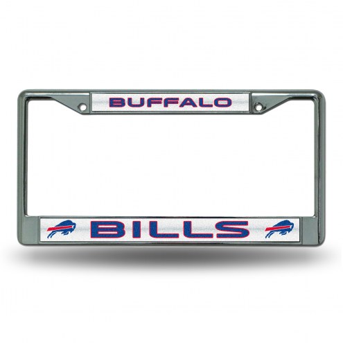 Buffalo Bills Chrome Glitter License Plate Frame