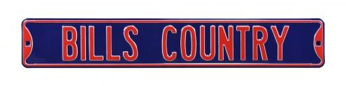 Buffalo Bills Country Street Sign