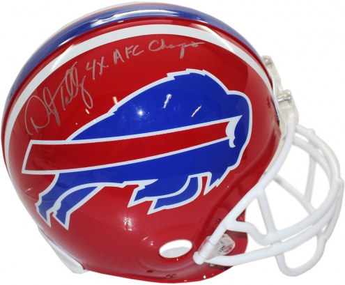 Buffalo Bills Darryl Talley Authentic Helmet w/ 4X AFC Champ