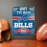 Buffalo Bills Embossed Metal Sign