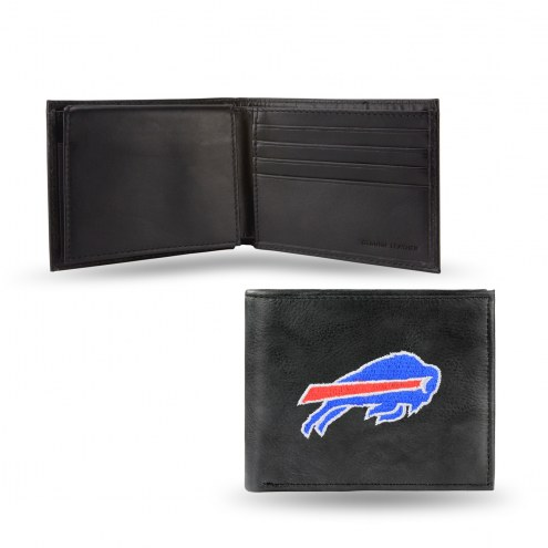 Buffalo Bills Embroidered Leather Billfold Wallet