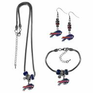 Buffalo Bills Euro Bead Jewelry 3 Piece Set
