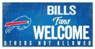 Buffalo Bills Fans Welcome Sign