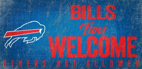 Buffalo Bills Fans Welcome Wood Sign