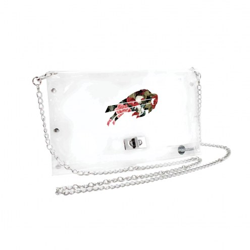 Buffalo Bills Floral Clear Envelope Purse