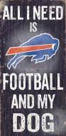 Buffalo Bills Football & Dog Wood Sign