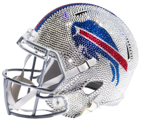 Buffalo Bills Full Size Swarovski Crystal Football Helmet