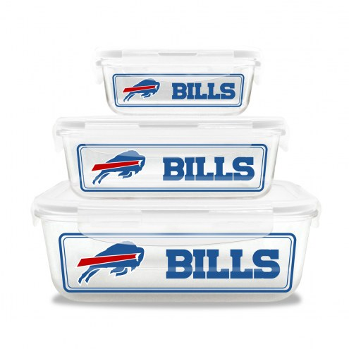 Buffalo Bills Glass Food Container Set