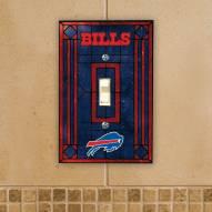 Buffalo Bills Glass Single Light Switch Plate Cover