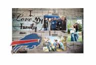 Buffalo Bills I Love My Family Clip Frame