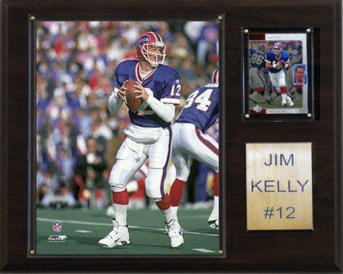 "Buffalo Bills Jim Kelly 12 x 15"" Player Plaque"
