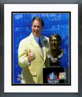 Buffalo Bills Jim Kelly Hall of Fame with Bust Framed Photo