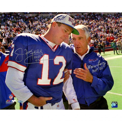 "Buffalo Bills Jim Kelly/Marv Levy w/ HOF Signed 16"" x 20"" Photo"