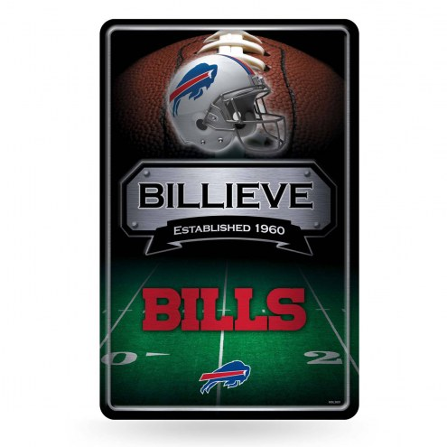 Buffalo Bills Large Embossed Metal Wall Sign