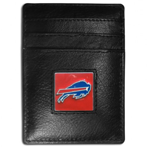 Buffalo Bills Leather Money Clip/Cardholder in Gift Box