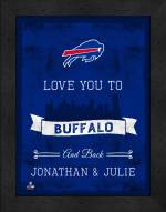 Buffalo Bills Love You to and Back Framed Print