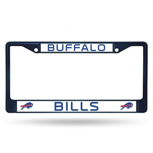 Buffalo Bills Navy Colored Chrome License Plate Frame