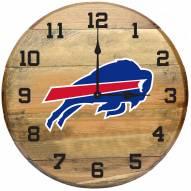 Buffalo Bills Oak Barrel Clock