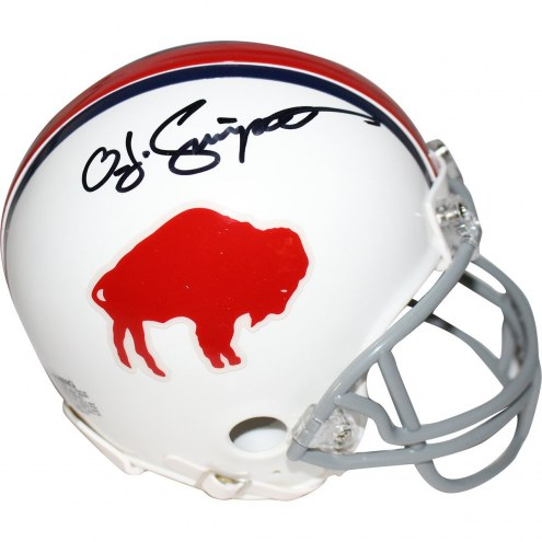 Buffalo Bills O.J. Simpson Signed Throwback Mini Helmet