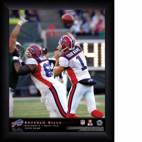 Buffalo Bills Personalized 11 x 14 NFL Action QB Framed Print