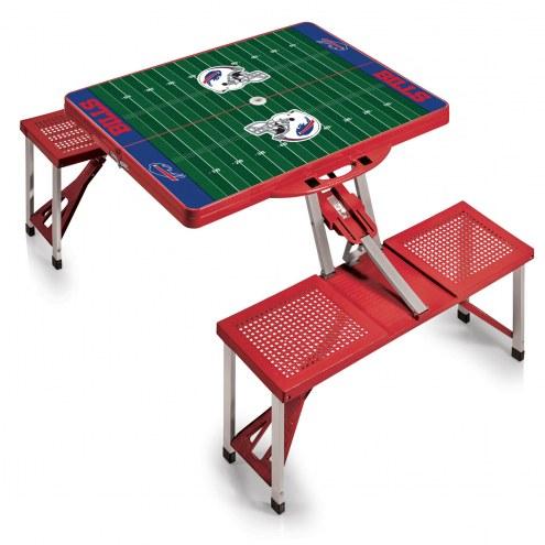 Buffalo Bills Red Folding Picnic Table