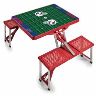 Buffalo Bills Red Folding Picnic Table