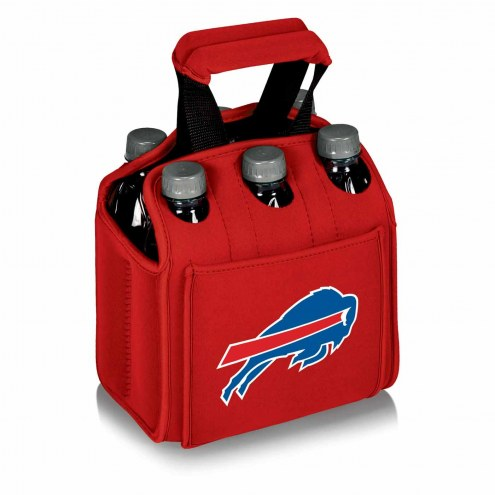 Buffalo Bills Red Six Pack Cooler Tote