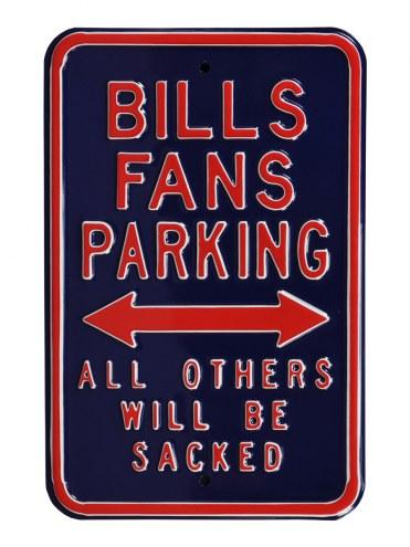 Buffalo Bills Sacked Parking Sign