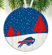 Buffalo Bills Snow Scene Ornament