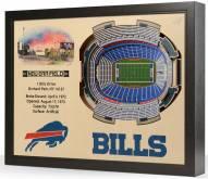 Buffalo Bills 25-Layer StadiumViews 3D Wall Art