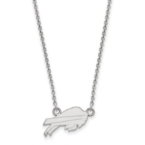 Buffalo Bills Sterling Silver Small Pendant with Necklace
