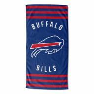 Buffalo Bills Stripes Beach Towel
