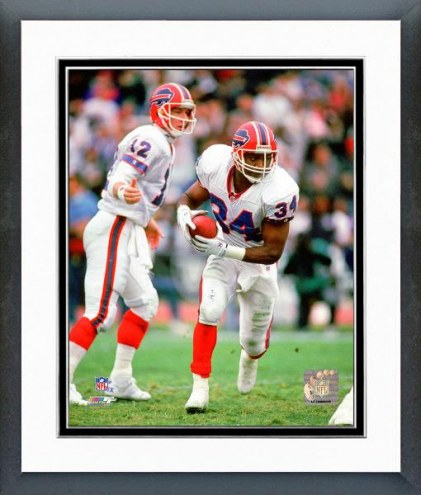 Buffalo Bills Thurman Thomas & Jim Kelly 1991 Action Framed Photo