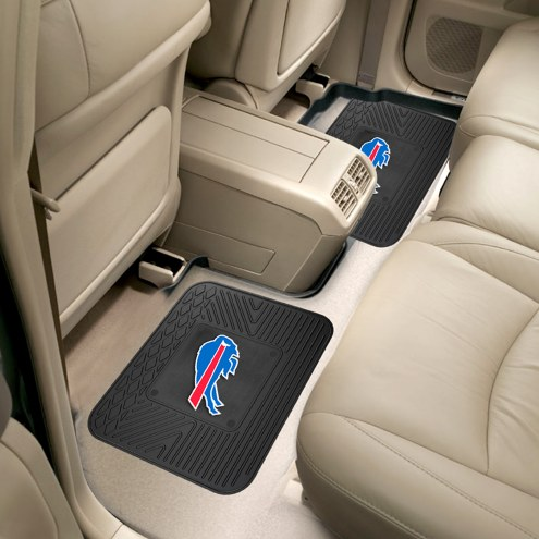 Buffalo Bills Vinyl 2-Piece Rear Floor Mats
