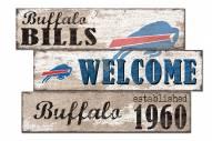 Buffalo Bills Welcome 3 Plank Sign