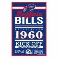 Buffalo Bills Established Wood Sign
