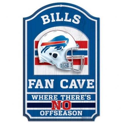 Buffalo Bills Fan Cave Wood Sign