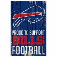 Buffalo Bills Proud to Support Wood Sign