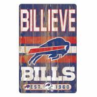 Buffalo Bills Slogan Wood Sign