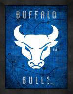 Buffalo Bulls Retro Logo Map Framed Print